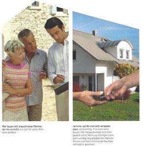 Altes Prospekt Hände Haus und ARchitekt