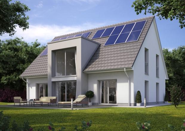 Aktiv-Energie-Haus 04 Dach dunkel