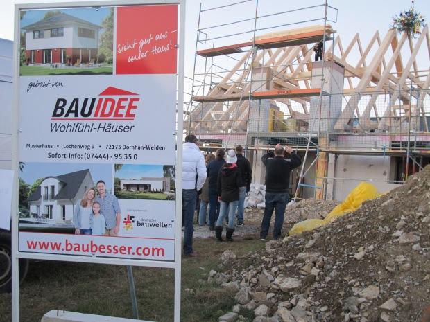 Bauidee Richtfest in Dornhan