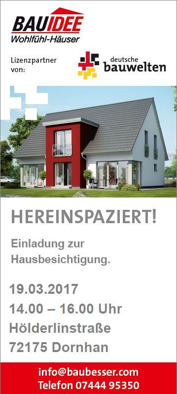 Hausbesichtigung Im Landkreis Rottweil Am Kommenden Sonntag