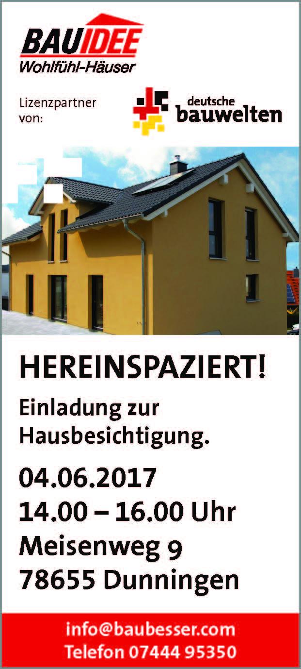 Hausbesichtigung Beim Traumhaus Spezialisten Im Landkreis Rottweil