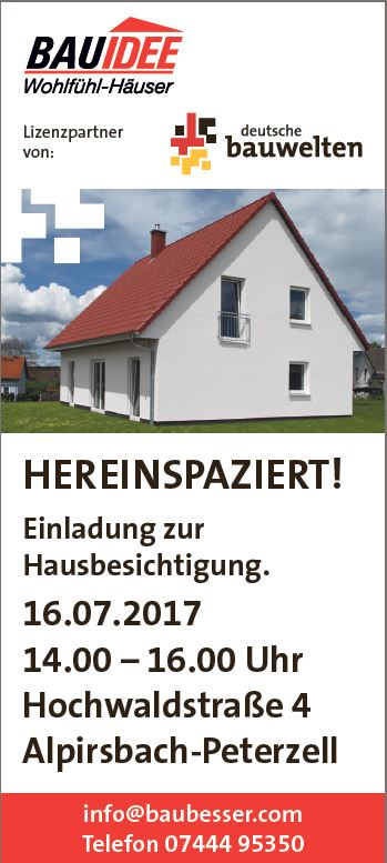 Einladung Zur Hausbesichtigung In Bauidee Wohlfuhlhauser Gmbh